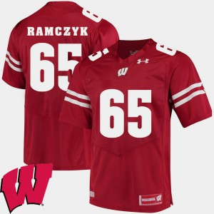 For Men's Badgers #65 Ryan Ramczyk Red Alumni Football Game 2018 NCAA Jersey 699022-827
