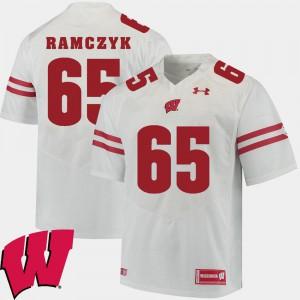 For Men University of Wisconsin #65 Ryan Ramczyk White Alumni Football Game 2018 NCAA Jersey 404113-729