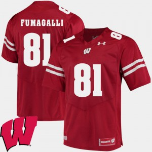 For Men Wisconsin #81 Troy Fumagalli Red Alumni Football Game 2018 NCAA Jersey 203760-145