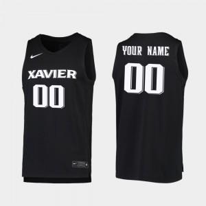 Men Xavier Musketeers #00 Black Replica 2019-20 College Basketball Custom Jerseys 961587-774