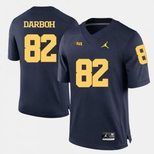 For Men Michigan #82 Amara Darboh Navy Blue College Football Jersey 852146-939
