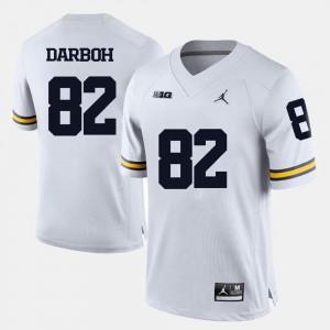 For Men Michigan #82 Amara Darboh White College Football Jersey 895691-896