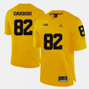 Mens University of Michigan #82 Amara Darboh Yellow College Football Jersey 903065-995