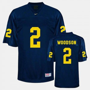 For Men's Michigan #2 Charles Woodson Blue College Football Jersey 582195-315