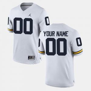 Men Michigan #00 White College Limited Football Customized Jerseys 607315-996