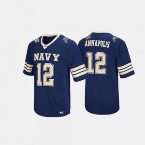 Men Navy Midshipmen #12 Navy Hail Mary II Jersey 862303-800