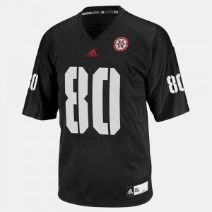 For Men's Cornhuskers #80 Kenny Bell Black College Football Jersey 764584-112