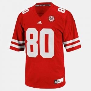 Mens Nebraska #80 Kenny Bell Red College Football Jersey 269361-514
