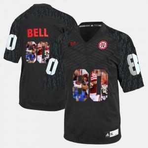 For Men Nebraska #80 Kenny Bell Black Player Pictorial Jersey 794071-910