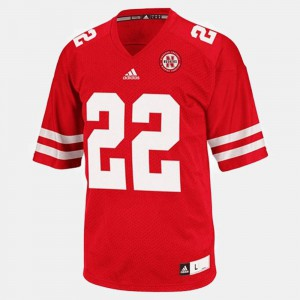 For Kids University of Nebraska #22 Rex Burkhead Red College Football Jersey 303918-454