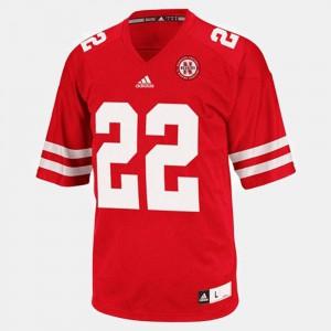 Men's Nebraska #22 Rex Burkhead Red College Football Jersey 375348-796