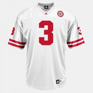 For Men Cornhuskers #3 Taylor Martinez White College Football Jersey 129379-697