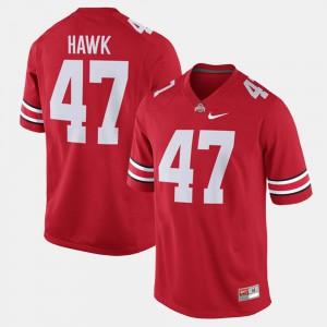 Men's Ohio State #47 A.J. Hawk Scarlet Alumni Football Game Jersey 595921-790
