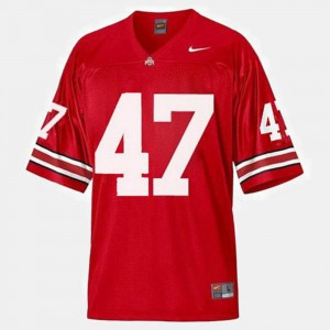 Youth Buckeyes #47 A.J. Hawk Red College Football Jersey 879773-485