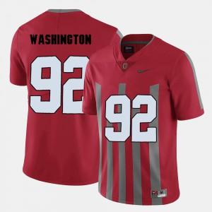 For Men's Buckeyes #92 Adolphus Washington Red College Football Jersey 930488-802