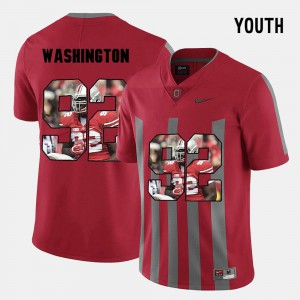 Youth(Kids) Ohio State Buckeyes #92 Adolphus Washington Red Pictorial Fashion Jersey 516991-483
