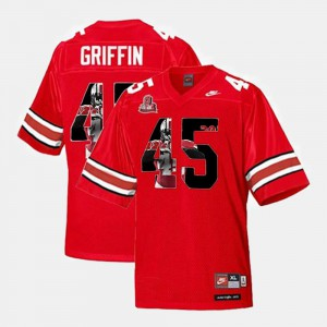 Men's OSU Buckeyes #45 Archie Griffin Scarlet Throwback Jersey 806135-205
