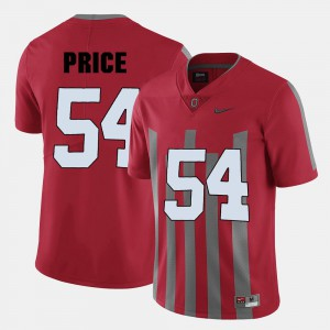 For Men Ohio State #54 Billy Price Red College Football Jersey 196845-392