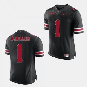 For Men's OSU #1 Braxton Miller Black College Football Jersey 870562-417