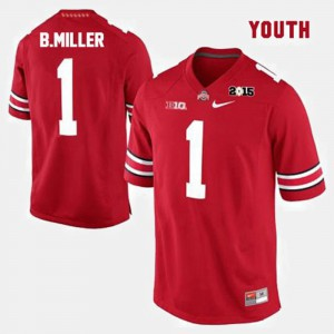 Youth OSU #1 Braxton Miller Red College Football Jersey 927744-289