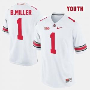 Kids Ohio State Buckeyes #1 Braxton Miller White College Football Jersey 175975-956