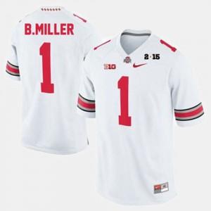 Mens Ohio State Buckeye #1 Braxton Miller White College Football Jersey 855425-912