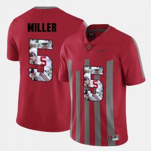Men Buckeye #5 Braxton Miller Red Pictorial Fashion Jersey 552120-482
