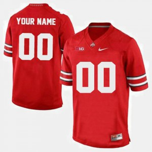 Mens Ohio State #00 Red College Football Customized Jerseys 506134-937