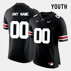 Youth(Kids) Ohio State #00 Black College Limited Football Custom Jersey 860366-274