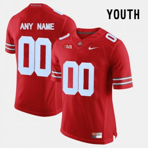 For Kids OSU Buckeyes #00 Red College Limited Football Custom Jersey 736003-711