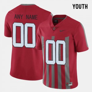 Youth Ohio State Buckeyes #00 Red Throwback Custom Jersey 702431-874