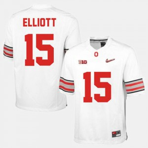 For Men's Ohio State Buckeye #15 Ezekiel Elliott White College Football Jersey 241750-438