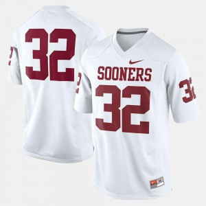Youth OU Sooners #32 White College Football Jersey 266809-295