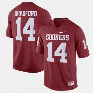 Mens OU Sooners #14 Sam Bradford Crimson Alumni Football Game Jersey 300405-670