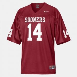 For Men's Sooners #14 Sam Bradford Red College Football Jersey 259925-664