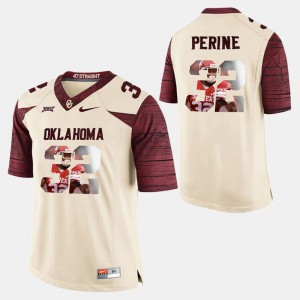 For Men Oklahoma Sooners #32 Samaje Perine White Player Pictorial Jersey 735120-853
