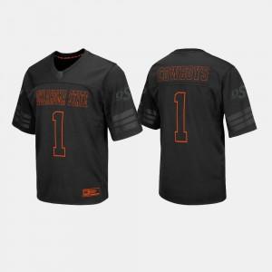For Men Oklahoma State University #1 Black College Football Jersey 324673-694