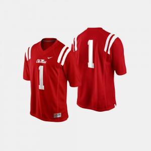 Men Ole Miss #1 Cardinal College Football Jersey 159046-606