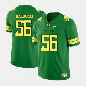 Mens UO #56 Alex Balducci Green College Football Jersey 408305-328