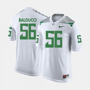 Men Oregon Duck #56 Alex Balducci White College Football Jersey 562386-997