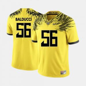 Mens Ducks #56 Alex Balducci Yellow College Football Jersey 798440-292