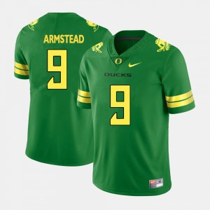 Mens Oregon #9 Arik Armstead Green College Football Jersey 285216-882