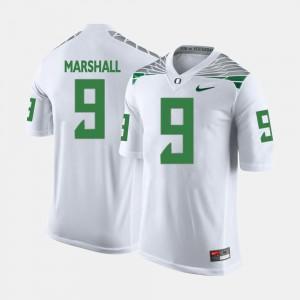 Men Ducks #9 Byron Marshall White College Football Jersey 286080-686
