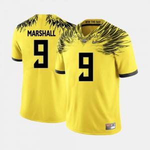 Men UO #9 Byron Marshall Yellow College Football Jersey 621818-454
