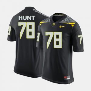 Men Ducks #78 Cameron Hunt Black College Football Jersey 324253-419