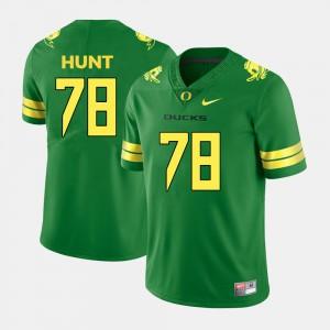 Men's University of Oregon #78 Cameron Hunt Green College Football Jersey 828394-838