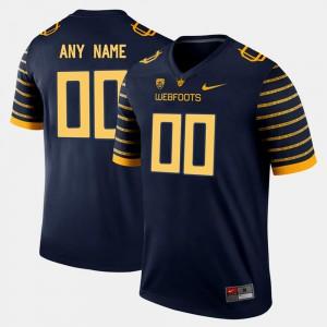 Mens Oregon #00 Navy College Limited Football Custom Jersey 796667-134