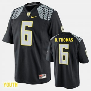 Youth(Kids) Ducks #6 De'Anthony Thomas Black College Football Jersey 367123-506