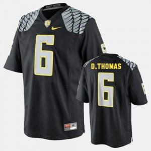 Mens Oregon Ducks #6 De'Anthony Thomas Black College Football Jersey 974435-826