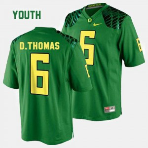 For Kids Ducks #6 De'Anthony Thomas Green College Football Jersey 702545-857